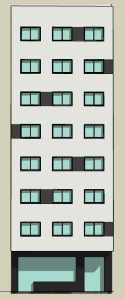 Fachada rua nova_3D alzado